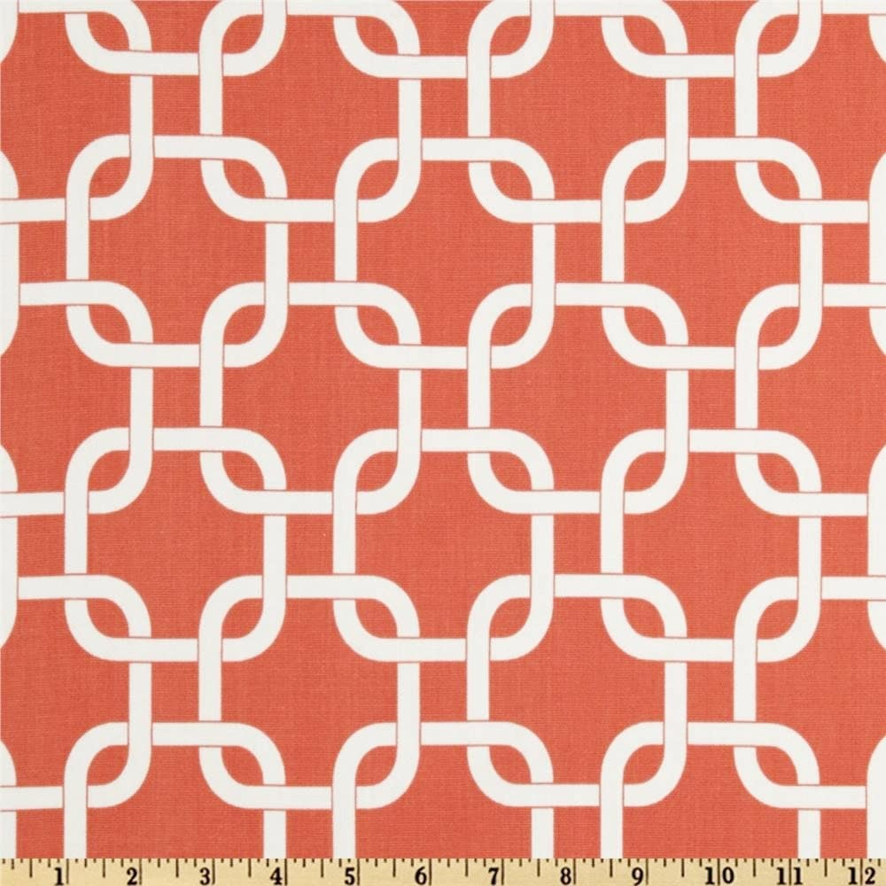 coral damask fabric home decor fabric by the yard ozborne coral white upholstery premier prints 1 yard or more ships fast - Home Decor Fabrics By The Yard