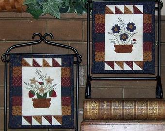 Summer Minis Pattern - Tiny Wool on Cotton Applique Pattern