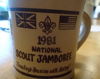 Vintage Boy Scout 1981 National Scout Jamboree Mug