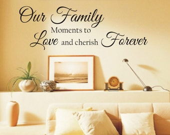 Our Family... Wall Decal Quote Wall Lettering Art Words Wall Decals Home Decor