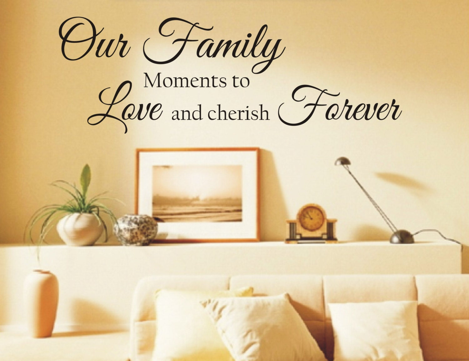 Our Family... Wall Decal Quote Wall Lettering Art Words Wall Decals ...