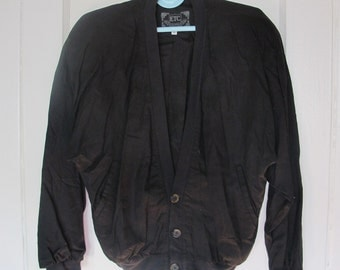 Black 80s Bomber Jacket