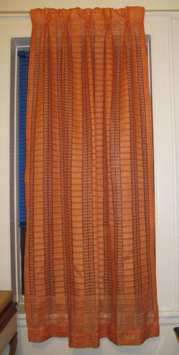 4 Beautiful Orange 1970 S Retro Curtains Drapes For Pocket