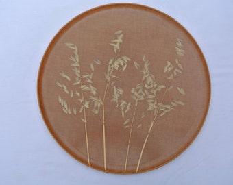 "Vintage 16 3/4"" Acrylic ""Wheat"" Tray / Platter"