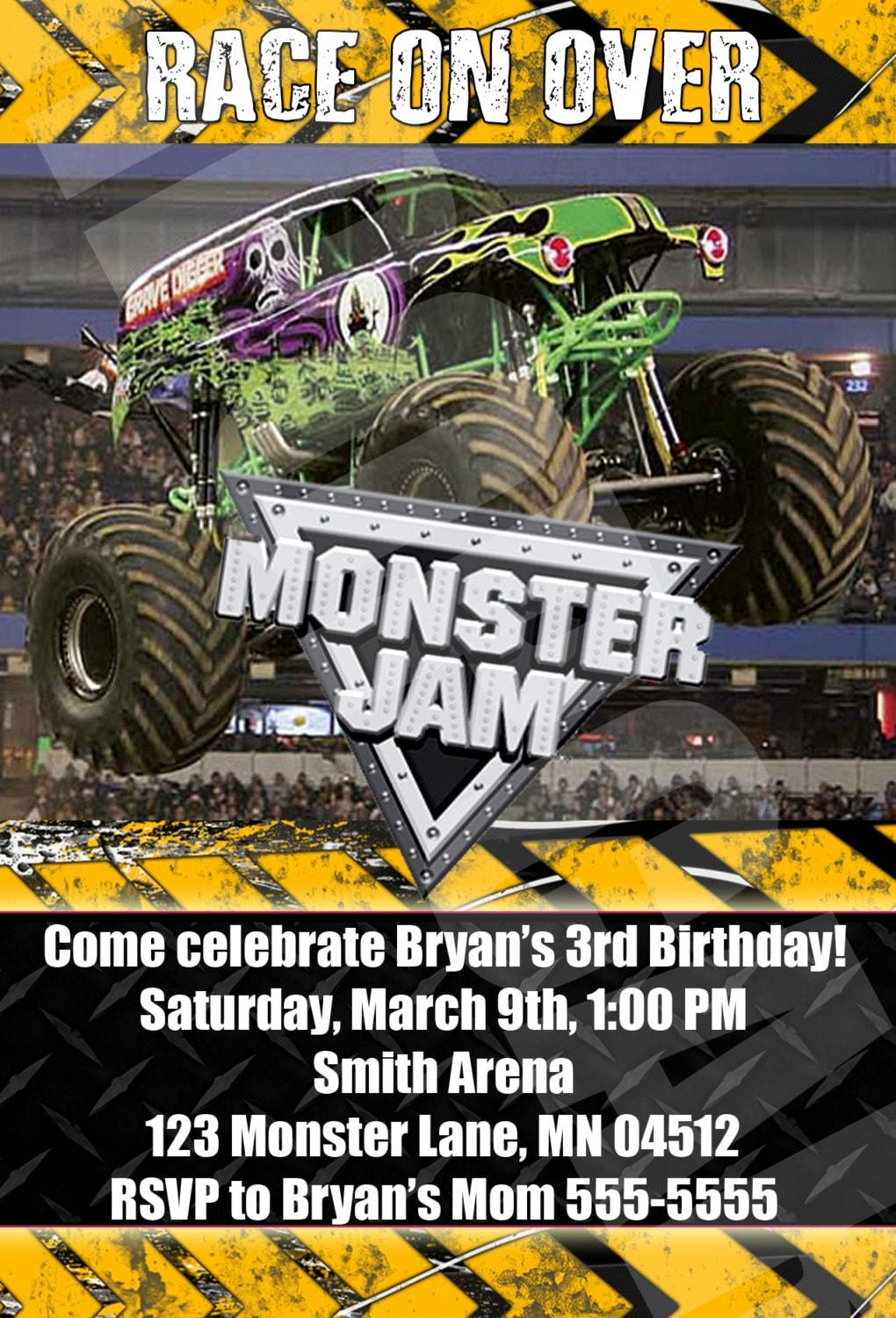 Monster Jam Birthday Invitations was perfect invitations ideas