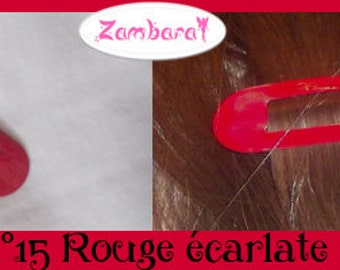 Hair Clips Scarlet Red