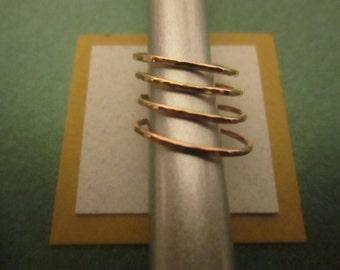 Four 14K Gold Filled Stacking Rings, Set