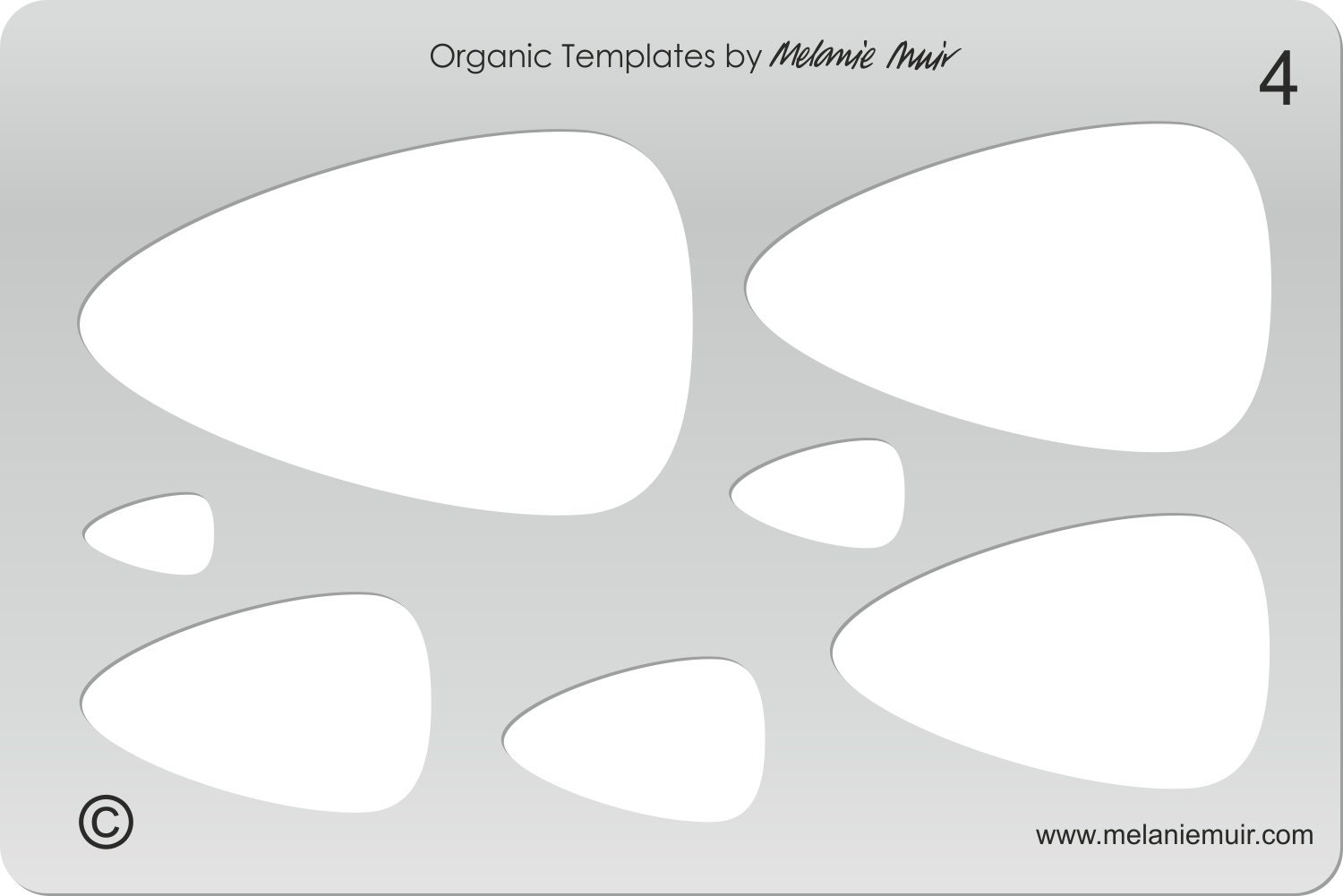 No 4 Clear Acrylic Template/Stencil For Polymer/Metal