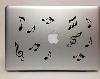 Macbook Decal flying notes decal Macbook Stickers music laptop decal iPad decals for macbook 011