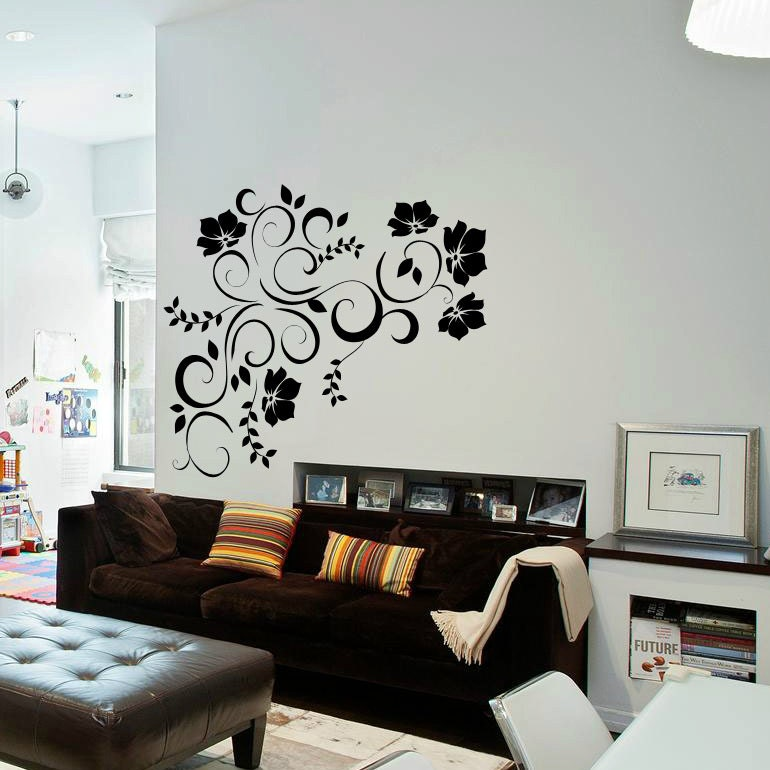 floral wall decal master bedroom decal cute flower wall decal