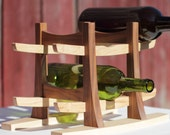 Arts and Crafts 6 Bottle Wine Rack