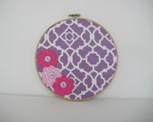 Nursery Decor, Nursery Art, Embroidery hoop art, Wall Art, Baby Girl Nursery Wall, Flower, lavender, Lavender wall art