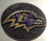 Baltimore Ravens Buckle - full of crystals