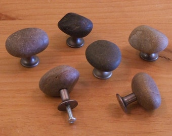 Rustic Stone Hardware knobs.
