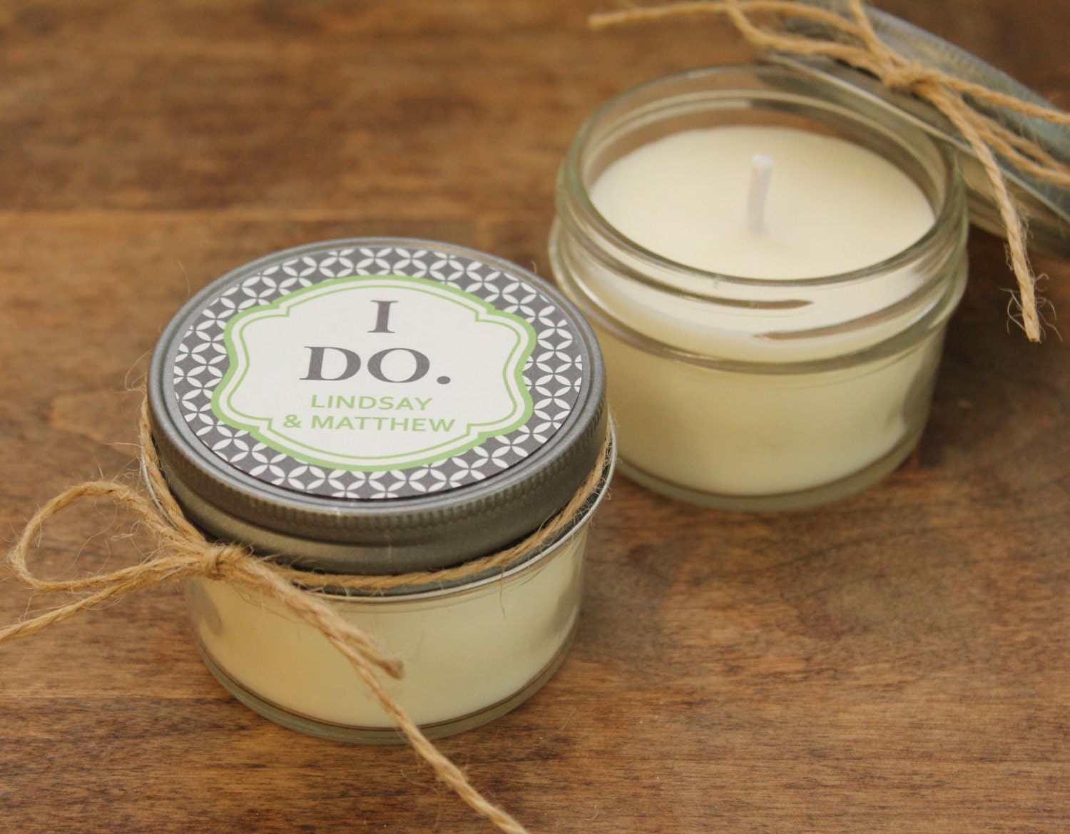 set of 12 4 oz soy candle wedding favors i do label by With candles for wedding favors