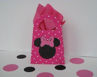 8 Minnie Mouse Favor Bags