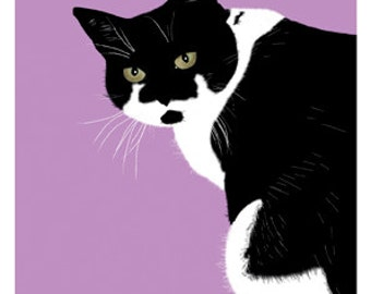 Cat Greeting Card, Blank, Catty Design No A6028