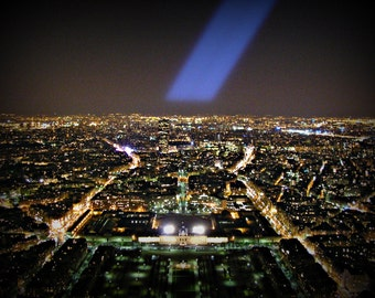 Parisian Lights: From the top of the Eiffel Tower in Paris, France