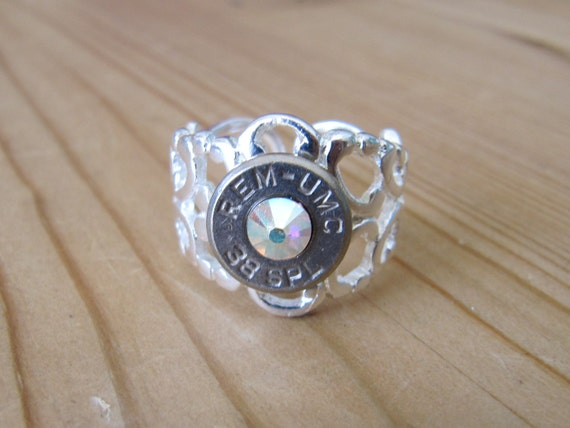 bullet jewelry bullet ring country wedding jewelry