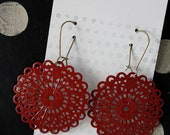 """The """"MELODY"""" Medium Scallop Round shaped Filigree Earrings - Ultra Lightweight - Make a Statment (21 Colors)"""