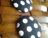 Fabric Button Earrings-Pinup