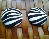 Extra Large Fabric Button Earrings-Vixen