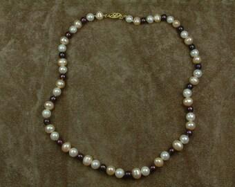 Multicolor Pearl Necklace 7 - 8 mm