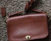 1970s vintage Coach brown leather handbag