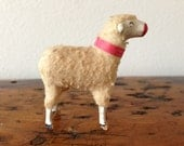 Vintage Wooly Putz or Nativity Sheep - LuLuBellesAntiques