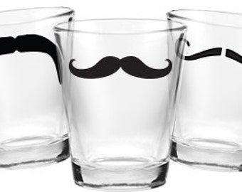 Mustache Shot Glasses- Set of 6