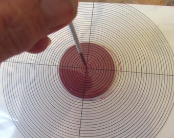 Center Finder,A tool to help you find  the center of your circle polymer clay,paper metal clay,Measurement Tools