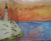 Watercolor printed postca...