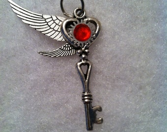 Red Stone Winged Key