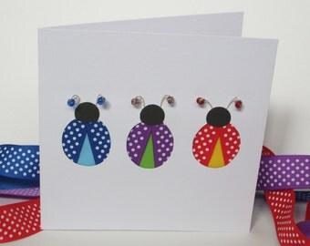Ladybird Card - Hand Cut Greeting Card