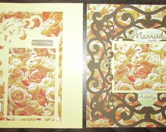 12x12 Premade Wedding Scrapbook Pages, Premade Wedding Layout, Premade Wedding Pages, Wedding Scrapbook,Handmade Wedding Pages,Premade Pages