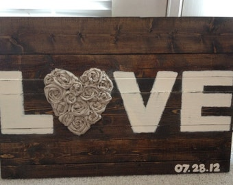 Love sign // wedding sign // decor // wooden // customizable // photo prop