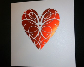 Lovely handmade Valentine card Husband Wife Boyfriend Girlfriend