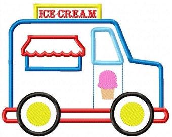 Ice CreamTruck Machine Embroidery Design