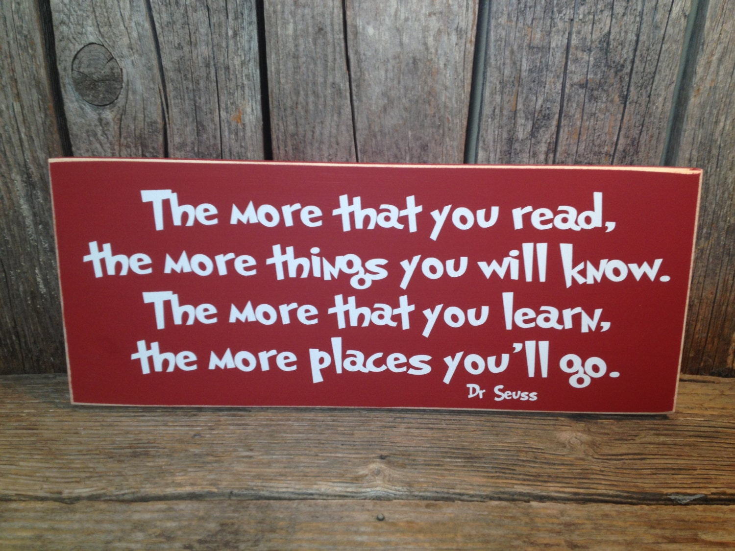 Reading Quotes: Classroom Sign The More That You Read Teacher Sign Dr Seuss