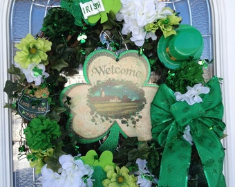 Handmade St. Patrick's Day Door Wreath