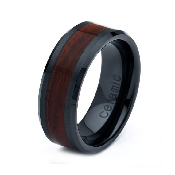 items similar to ceramic wedding band men ceramic rings With mens ceramic wedding rings
