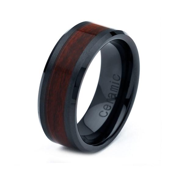 Items Similar To Ceramic Wedding Band Men Ceramic Rings Mens Wedding Band
