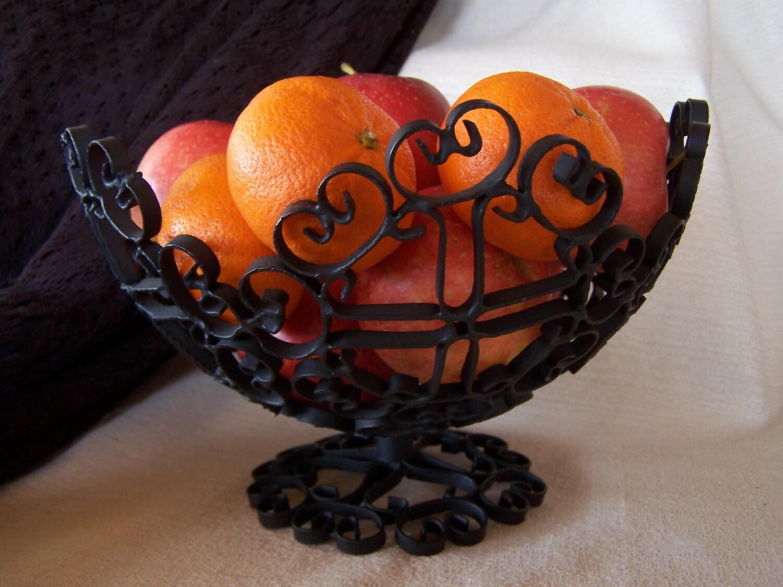 Wrought Iron Decorative Fruit Bowl