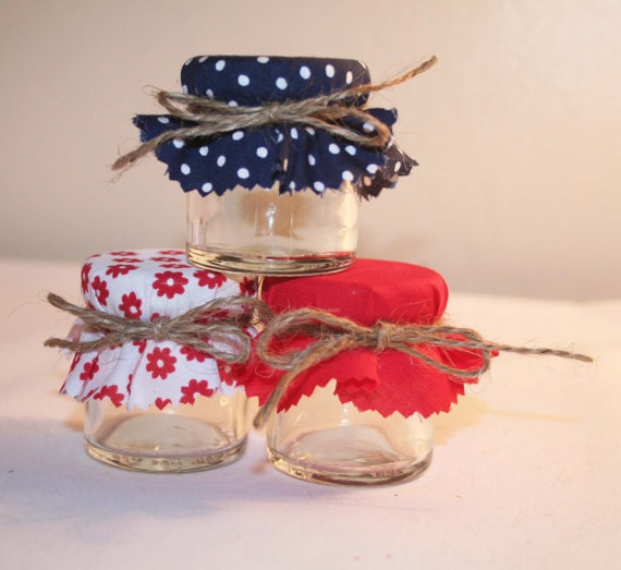 Mini Jelly Jars Wedding Favors: DIY Favors Diy Wedding Jam Jar Covers Mini Jar Covers Red