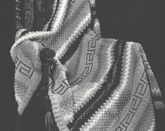 30s Southwest Design Vintage Crochet Couch Afghan Pattern PDF  Instant Download Get It Now
