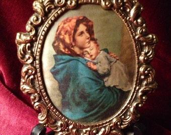 1940s Feruzzi Italian Silk Portrait