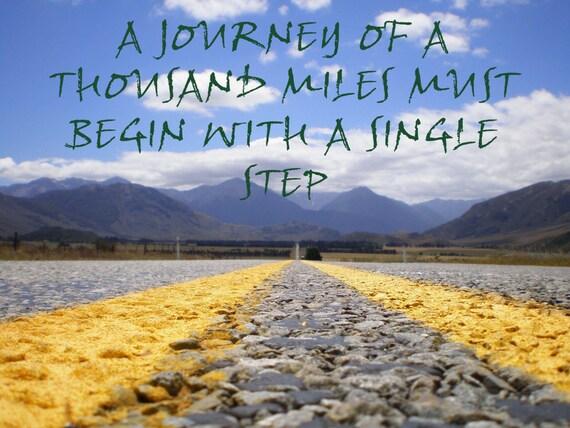 Items similar to inspirational travel journey print