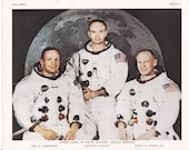 Photo-lithograph of the Apollo 11 Crew