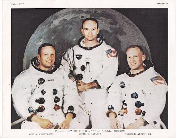 Photo-lithograph of the Apollo 11 Crew
