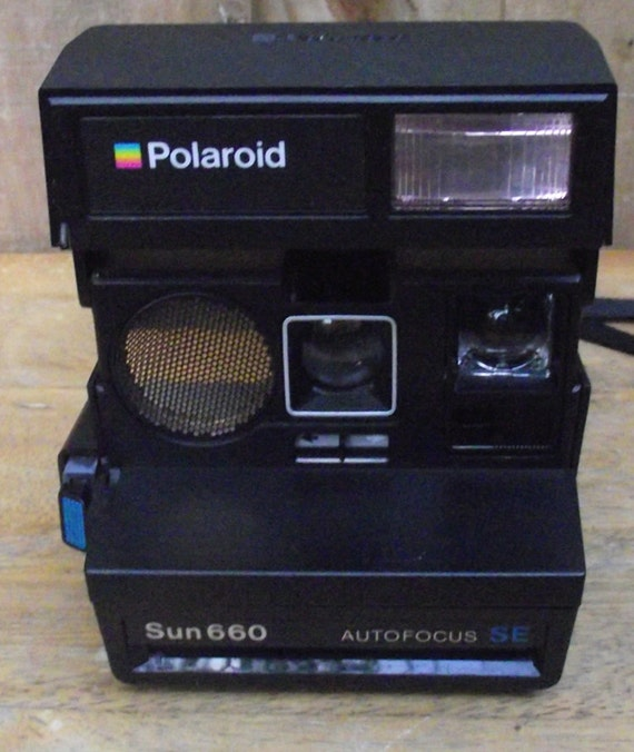 polaroid sun 660 autofocus se by daytonavintage on etsy. Black Bedroom Furniture Sets. Home Design Ideas